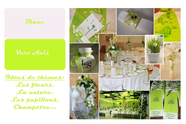 d coration de mariage blanc et vert anis organiser un mariage. Black Bedroom Furniture Sets. Home Design Ideas
