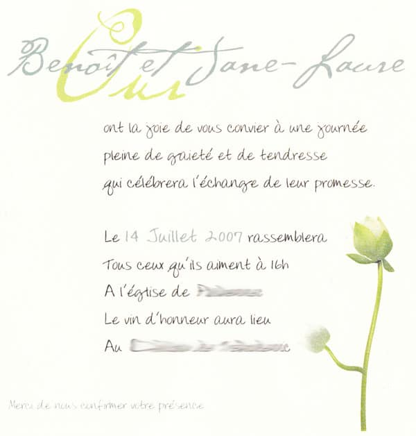quelques id es de textes de faire part romantiques organiser un mariage. Black Bedroom Furniture Sets. Home Design Ideas