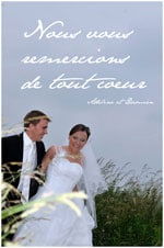 remerciements mariage - Exemple Remerciement Mariage